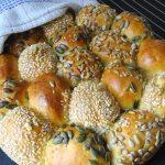 sharing roll loaf,seeds, cooling rack