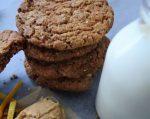 cookies, milk, orange zest