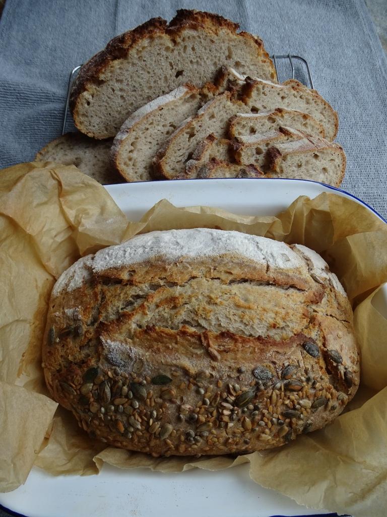 Spelt and white flour sourdough