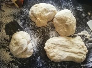 Sourdough baguette dough