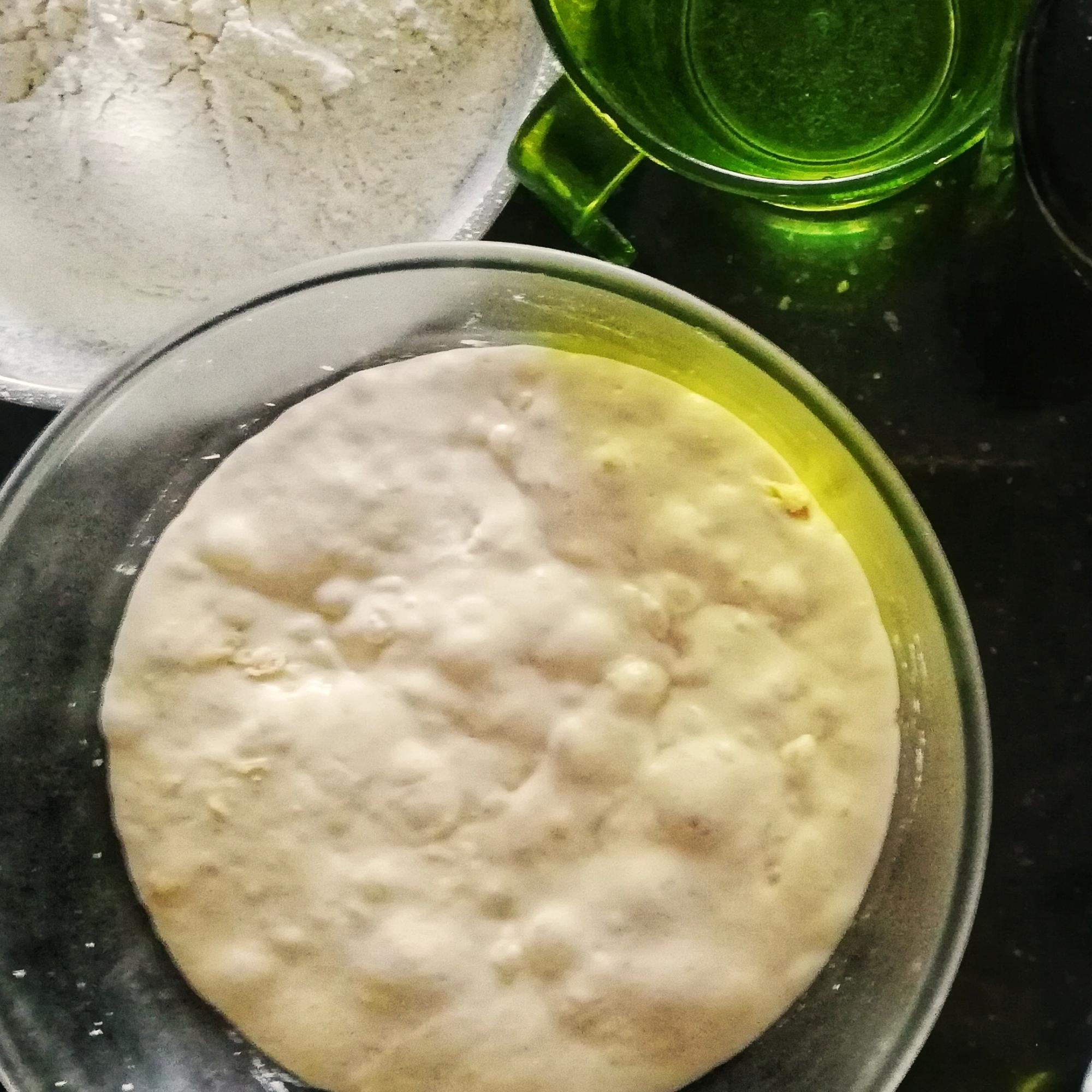 Sponge, ready for ciabatta, flour,oil, salt