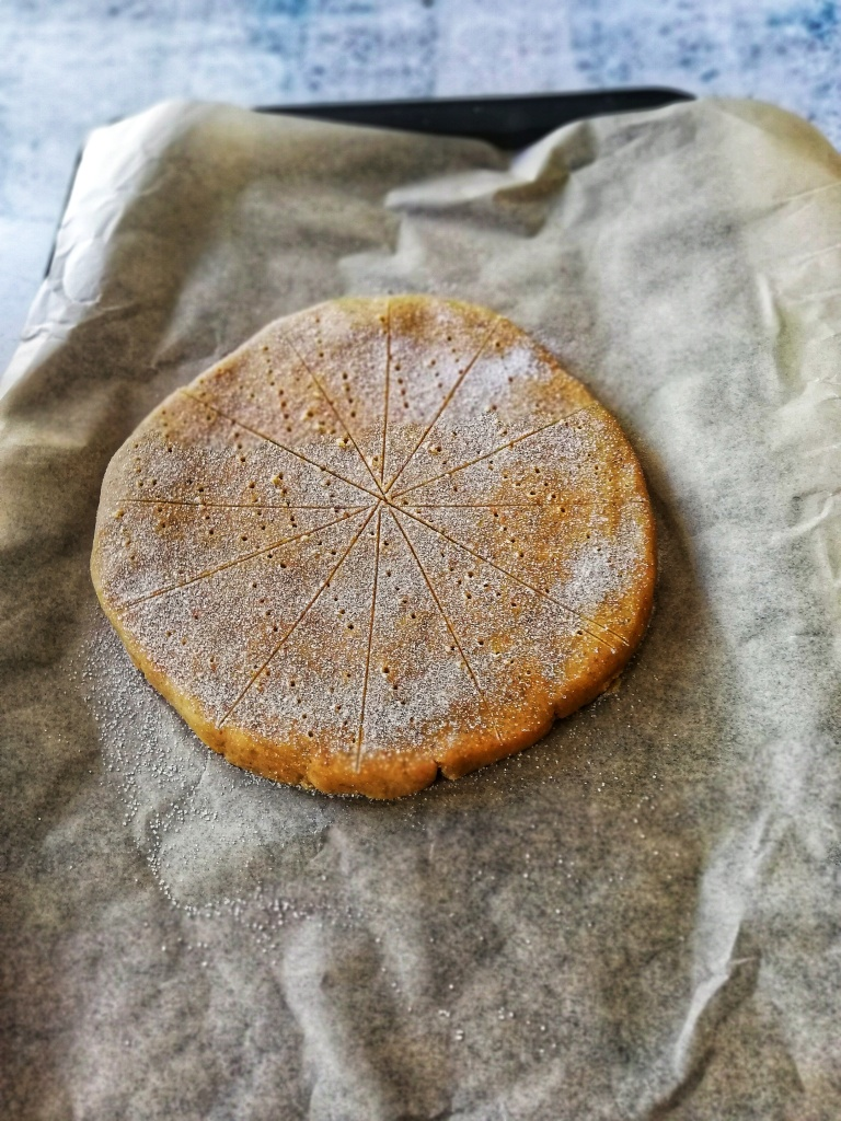 Shaping the spelt and rye shortbread
