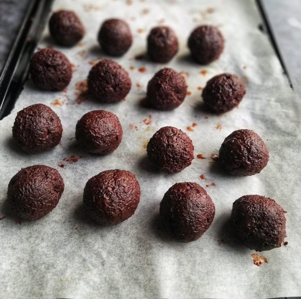 Food photography,chocolate, whiskey, cauliflower truffle mix