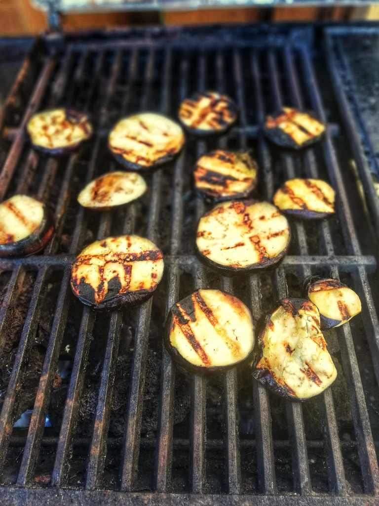 Food photography, Char-grilled Miso aubergines