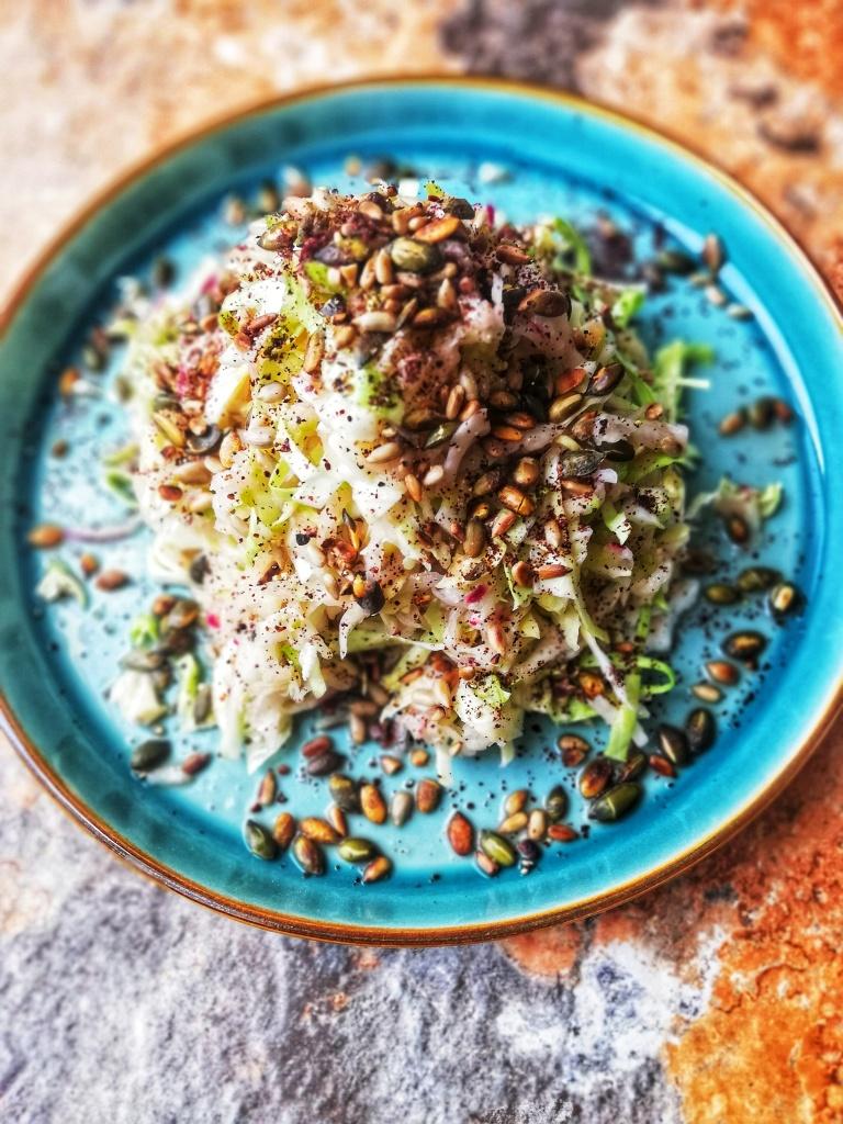 Image, Kolhrabi salad with toasted seeds